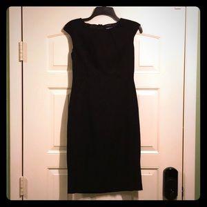 Black knee length business casual sleeveless dress